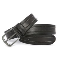 Wrangler Black Stitch Top Stitched Leather Belt