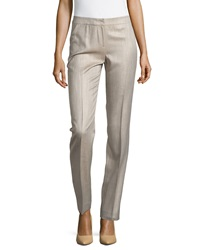 Lafayette 148 New York Barrow Straight Leg Suiting Pants Khaki