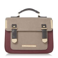 Head Over Heels Hula Colour Block Satchel Berry
