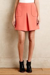 Maeve Melba Pleated Mini Skirt Pink
