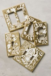 Anthropologie Canterbury Switch Plate Honey