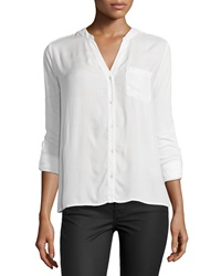 Soft Joie Evaine Button Down Top Porcelain