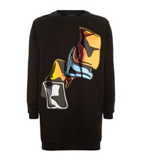 Christopher Kane Crash Hologram Sweatshirt Male Black