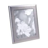 Graphic Image Metallic Silver Leather Frame 8'X10
