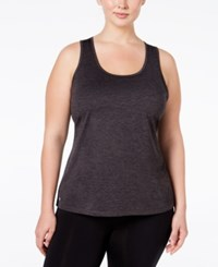 Ideology Plus Size Essential Racerback Performance Tank Top Only At Macy's Noir
