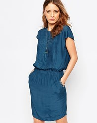 Y.A.S Birch Panelled Dress Indian Teal Blue