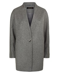Jaeger Wool Turn Back Lapel Coat Grey