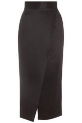 Adam By Adam Lippes Long Wrap Heavy Silk Skirt