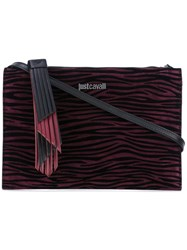 Just Cavalli Animal Print Cross Body Bag Pink Purple
