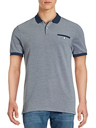 Ben Sherman Solid Cotton Polo Tee Classic Navy