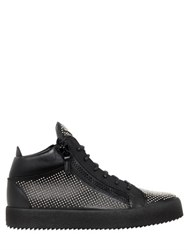Giuseppe Zanotti Micro Studded Leather Mid Top Sneakers