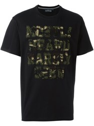 Mostly Heard Rarely Seen Embroidered Logo Patch T Shirt Black