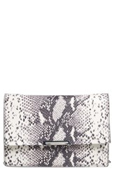 Ivanka Trump 'Mara' Convertible Leather Clutch White