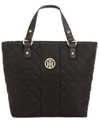 Tommy Hilfiger Isla Quilted Shopper Black