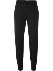 Piazza Sempione Tapered Trousers Black