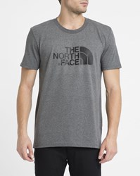 The North Face Grey Easy Tee Logo Ss Round Neck T Shirt
