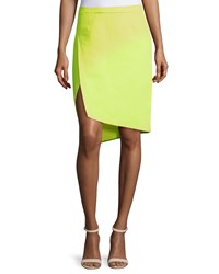 Cnc Costume National Mid Rise Pencil Skirt Neon