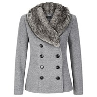 Precis Petite Short Wool Coat Light Grey