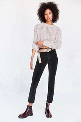 Bdg Girlfriend Velvet High Rise Pant Black