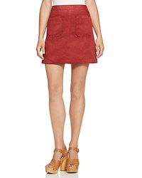 Sanctuary Serina Faux Suede A Line Skirt Brooklyn Brick