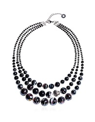 Antica Murrina Veneziana Optical 1 Top Black Murano Glass Choker