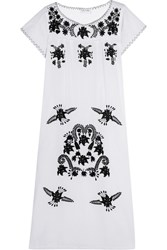 Sensi Studio Embroidered Cotton Maxi Dress White