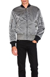 Maison Martin Margiela Bomber Jacket In Gray