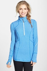 Zella 'My Run Layer' Half Zip Top Blue
