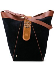 Roberta Di Camerino Vintage Velvet Bucket Shoulder Bag Black