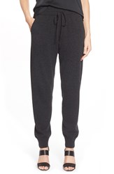 Lafayette 148 New York Drawstring Cashmere Track Pants Steel