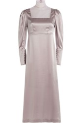 Simone Rocha Silk Satin Dress Purple