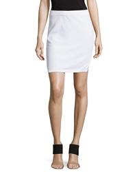 Smooth Patterned Knit Skirt White