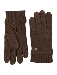 Replay Leather Gloves Green