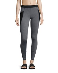 Elie Tahari Phoebe Colorblocked Leggings Charcoal Melange
