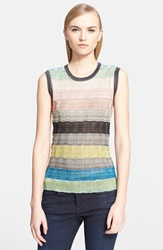 Missoni Multi Stripe Stitch Detail Shell Pink Multi