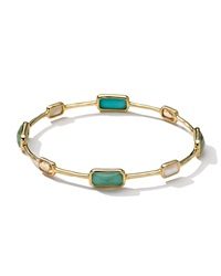 Ippolita 18K Gold Rock Candy Gelato 8 Stone Bangle Sailor