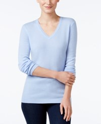 Charter Club Cashmere V Neck Sweater Only At Macy's Dusy Robin