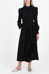 Hillier Bartley Shirt Crepe Dress Black