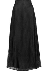 Adam By Adam Lippes Crochet Knit Midi Skirt Black