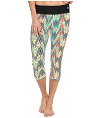 Trina Turk Neon Lights Mid Length Leggings Multi Women's Workout