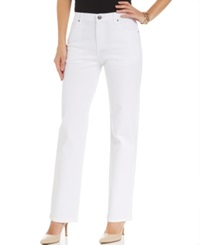 Lee Platinum Relaxed Fit Straight Leg Jeans White Wash