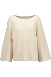 Helmut Lang Oversized Cashmere And Cotton Blend Sweater Off White