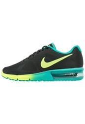 Nike Performance Air Max Sequent Cushioned Running Shoes Black Volt Clear Jade