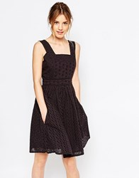 Yumi Uttam Boutique Broderie Anglaise Sun Dress Black