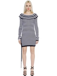 Sonia Rykiel Striped Fitted Cotton Jersey Dress