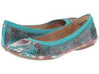 Bandolino Edition Medium Turquoise Combo Synthetic Women's Flat Shoes