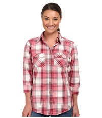 Carhartt Huron Shirt Cinnamon Red Women's Short Sleeve Button Up Multi