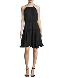 Milly Madison Sleeveless Tiered Sundress Black