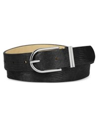 Styleandco. Style Co. Lizard Embossed Double Keeper Belt Only At Macy's Black