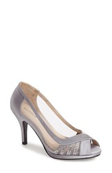 Women's Menbur 'Balcones' Peep Toe Pump Grey